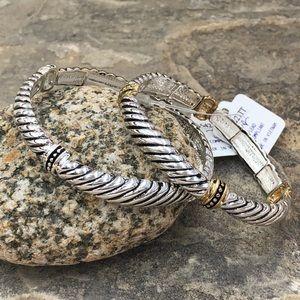🍀CLOSEOUT🍀 Cable Twist Simple Stretch Bracelet